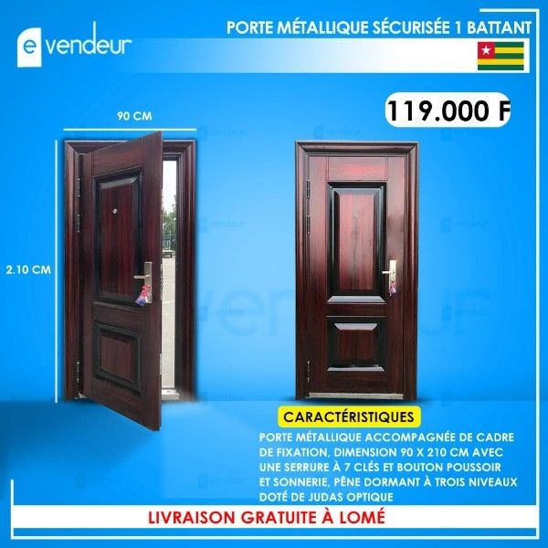 PORTES METALLIQUES SECURISEES 1 & 2 BATTANTS